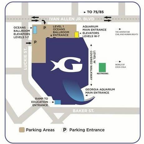 Georgia Aquarium Parking Map