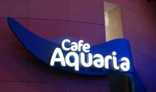 Cafe Aquaria Sign