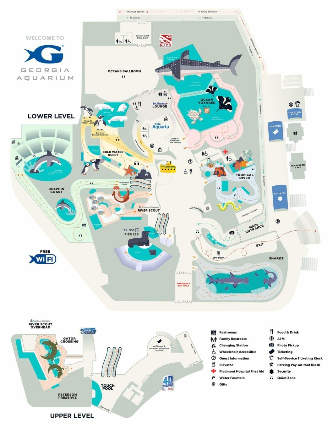 Georgia Aquarium Map