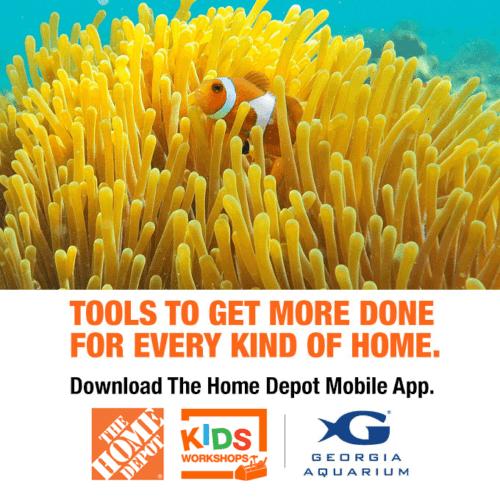 The Home Depot Kids Workshops at Georgia Aquarium 18